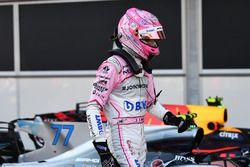 Esteban Ocon, Sahara Force India F1, dans le parc fermé