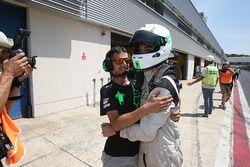Il vincitore di Gara 1 Ian Rodriguez Wright, DRZ Benelli