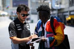 Sergio Pérez, Sahara Force India y Mr Moko