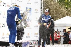 Podium: 1. Graham Rahal, Rahal Letterman Lanigan Racing, Honda; 2. Scott Dixon, Chip Ganassi Racing,