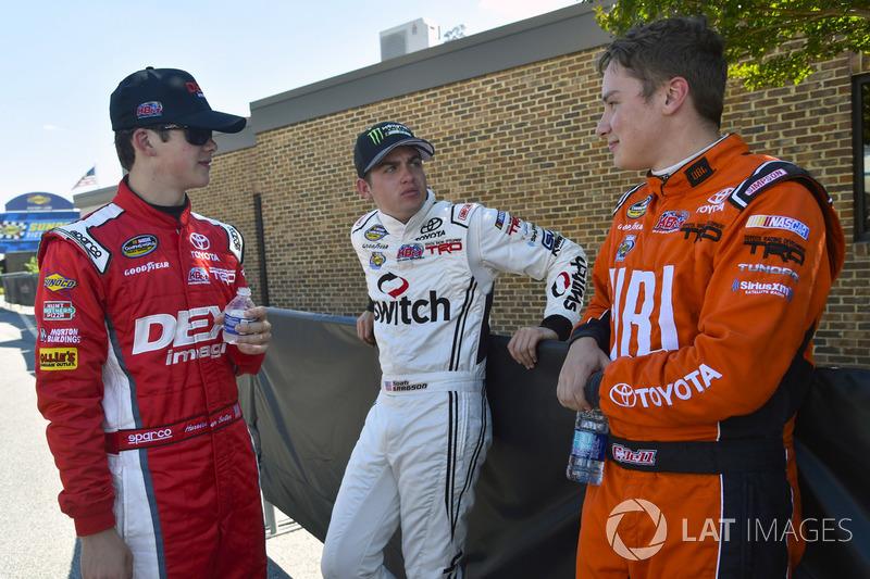 Harrison Burton, Kyle Busch Motorsports, Toyota; Noah Gragson, Kyle Busch Motorsports, Toyota; Christopher Bell, Kyle Busch Motorsports, Toyota
