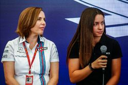 Claire Williams, Deputy Team Principal, Williams, Marta Garcia, Renault Sport F1 Team Sport Academy,