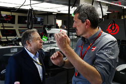 Jean Todt, President, FIA, Guenther Steiner, Team Principal, Haas F1 Team