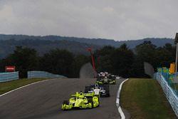 Simon Pagenaud, Team Penske Chevrolet, Sébastien Bourdais, Dale Coyne Racing Honda