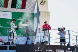 Podium: second place Sergio Sette Camara, MP Motorsport, Race winner Luca Ghiotto, RUSSIAN TIME, third place Antonio Fuoco, PREMA Powerteam