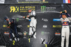 Podium: Winner Johan Kristoffersson, PSRX Volkswagen Sweden, VW Polo GTi, second place Sebastien Loe