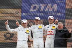 Podium: vainqueur Robert Wickens, Mercedes-AMG Team HWA, Mercedes-AMG C63 DTM, deuxième place Paul Di Resta, Mercedes-AMG Team HWA, Mercedes-AMG C63 DTM, troisième place Marco Wittmann, BMW Team RMG, BMW M4 DTM