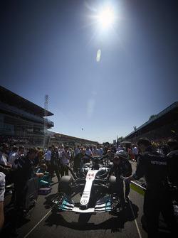 The Mercedes team, the car of Lewis Hamilton, Mercedes AMG F1 W08