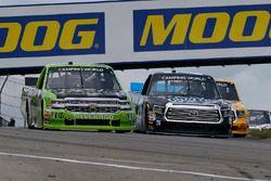 Parker Kligerman, Henderson Motorsports Toyota and Kaz Grala, GMS Racing Chevrolet