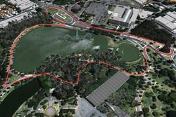 São Paulo, Ibirapuera park track layout by Lucas di Grassi