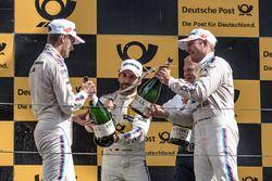Podium: le vainqueur Timo Glock, BMW Team RMG, BMW M4 DTM, le deuxième Marco Wittmann, BMW Team RMG, BMW M4 DTM, le troisième Maxime Martin, BMW Team RBM, BMW M4 DTM