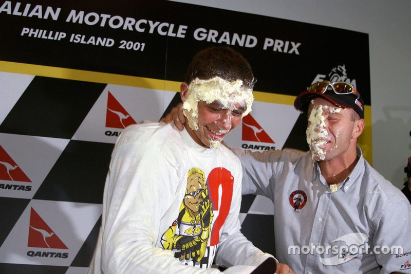 Valentino Rossi, campeón del mundo de 500cc 2001