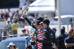 Race winners Ricky Taylor, Jordan Taylor, Wayne Taylor Racing
