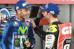 Друге місце Валентино Россі, Yamaha Factory Racing, третє місце Кел Кратчлоу, Team LCR Honda