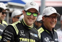 Le poleman Charlie Kimball, Chip Ganassi Racing Honda