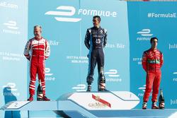Felix Rosenqvist, Mahindra Racing, Sébastien Buemi, Renault e.Dams, andLucas di Grassi, ABT Schaeffl