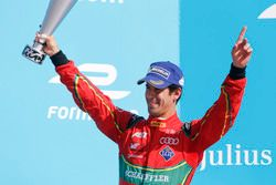 Lucas di Grassi, ABT Schaeffler Audi Sport, on the podium