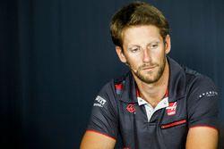 Romain Grosjean, Haas F1 Team, en conférence de presse