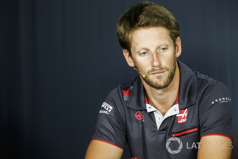 Romain Grosjean, Haas F1 Team, in the press conference