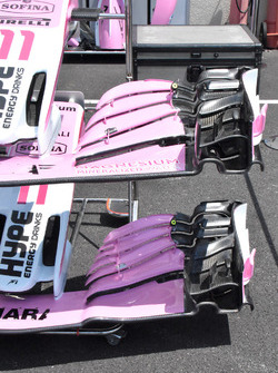 Force India VJM11 detalle alas delanteras