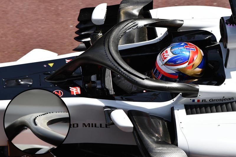 Haas F1 Team VF-18, halo