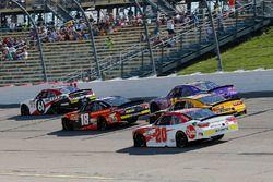 Kaz Grala, Fury Race Cars LLC, Ford Mustang NETTTS, Riley Herbst, Joe Gibbs Racing, Toyota Camry Advance Auto Parts and Christopher Bell, Joe Gibbs Racing, Toyota Camry Rheem