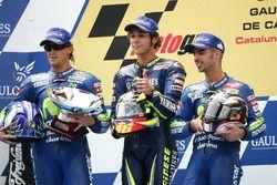 Podio: Sete Gibernau, Honda, Valentino Rossi, Yamaha Factory Racing, Marco Melandri, Honda