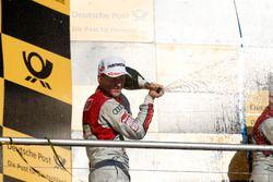 Kampioenschapspodium: tweede Mattias Ekström, Audi Sport Team Abt Sportsline