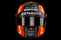 The helmet of Carlos Sainz Jr., Renault Sport F1 Team