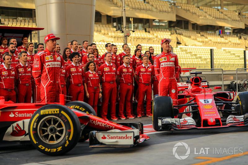 Kimi Raikkonen, Sebastian Vettel, Ferrari SF70H