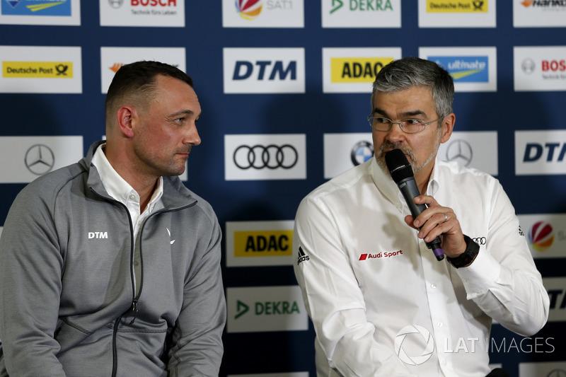Achim Kostron, Managing Director ITR, Dieter Gass, Capo del DTM Audi Sport