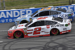 Brad Keselowski, Team Penske, Ford Fusion Wurth and Kevin Harvick, Stewart-Haas Racing, Ford Fusion Busch Beer