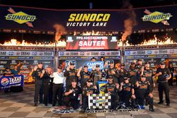 Johnny Sauter, GMS Racing, Chevrolet Silverado ISM Connect, celebrates after winning in Texas