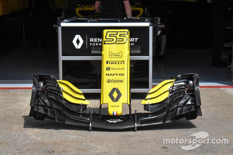 Detalle del ala frontal del Renault Sport F1 Team RS 18