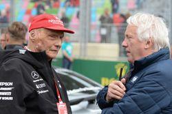 Niki Lauda, Mercedes AMG F1 y Charlie Whiting, FIA