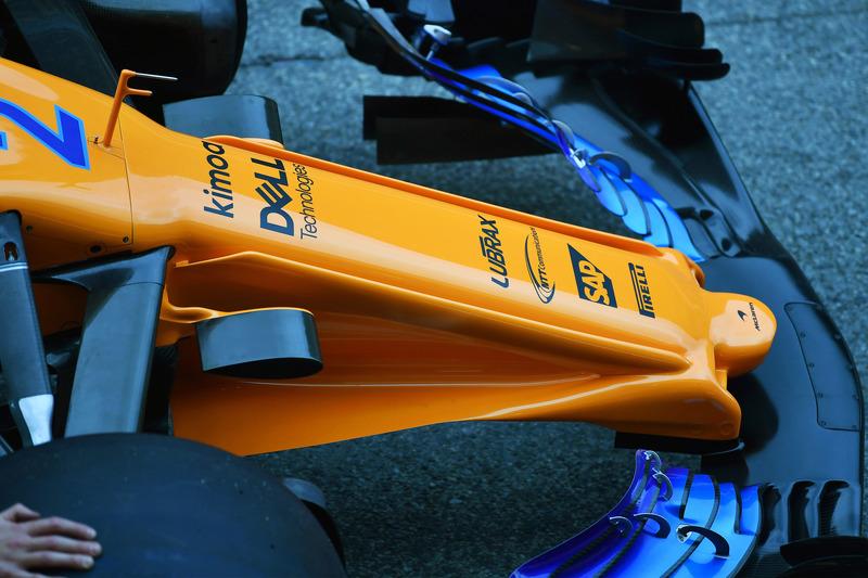 McLaren MCL33 detalle de la nariz