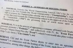 Dokument für geplanten Formel-1-Grand-Prix in Miami