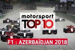 Le top 10 du GP d'Azerbaïdjan