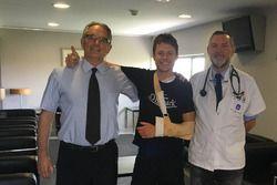 Doctor Xavier Mir y Angel Charte con Tito Rabat