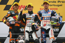 Podio: Hiroshi Aoyama, Andrea Dovizioso, Alex De Angelis