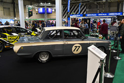 A Lotus Cortina on display