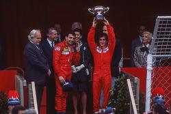 1. Alain Prost, McLaren; 2. Michele Alboreto, Ferrari