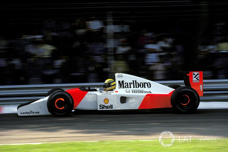 Rubens Barrichello vem a seguir com três vitórias (2002, 2004 e 2009), Ayrton Senna (foto) com duas (1990 e 1992) e Emerson Fittipaldi ganhou em 1972
