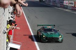 Racewinnaars #2 Black Falcon Mercedes-AMG GT3: Abdulaziz Al Faisal, Hubert Haupt, Yelmer Buurman, Ga