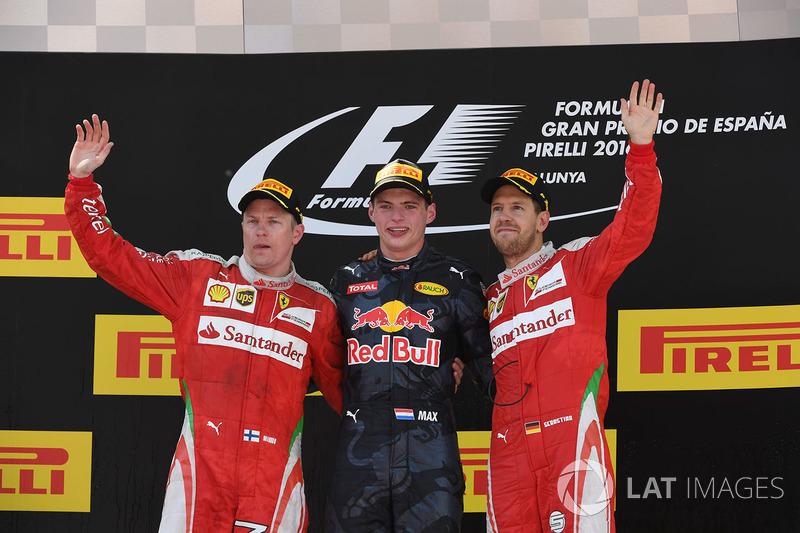 2016: 1. Max Verstappen, 2. Kimi Raikkonen, 3. Sebastian Vettel