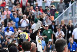 #5 Action Express Racing Cadillac DPi, P: Joao Barbosa celebrates in Victory Lane