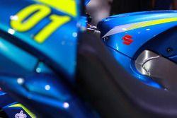 Detalle de la moto de Alex Rins, Team Suzuki MotoGP,