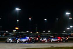 #67 Chip Ganassi Racing Ford GT, GTLM: Ryan Briscoe, Richard Westbrook, Scott Dixon #66 Chip Ganassi Racing Ford GT, GTLM: Dirk Müller, Joey Hand, Sébastien Bourdais