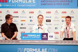 Mark Preston, Techeetah Team Principal, Gary Hughes, Team Principal NIO Formula E Team, Allan McNish