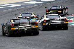#204 Ferrari Hong Kong Ferrari 488: Philippe Prette, #239 CTF Beijing Ferrari 488: Huilin Han